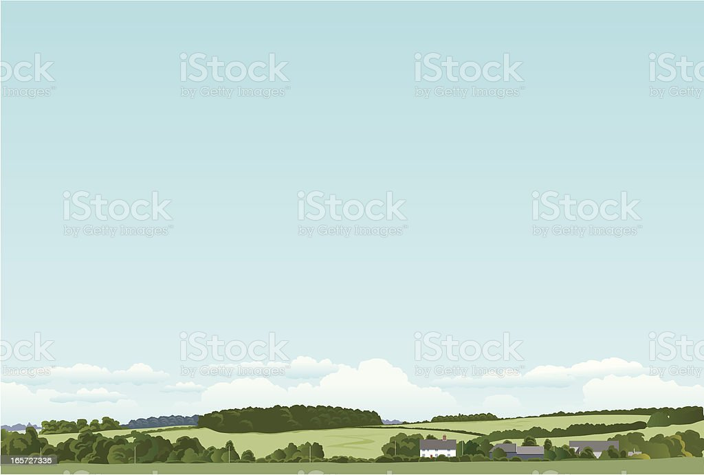English landscape royalty-free stock vector art