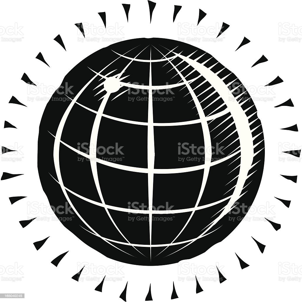 Engraved globe royalty-free stock vector art