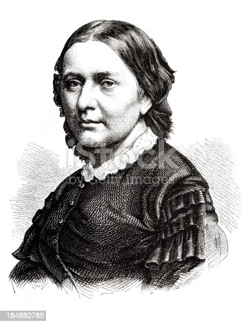 istock Engraving german pianist and composer Klara Schumann 1870 184880785