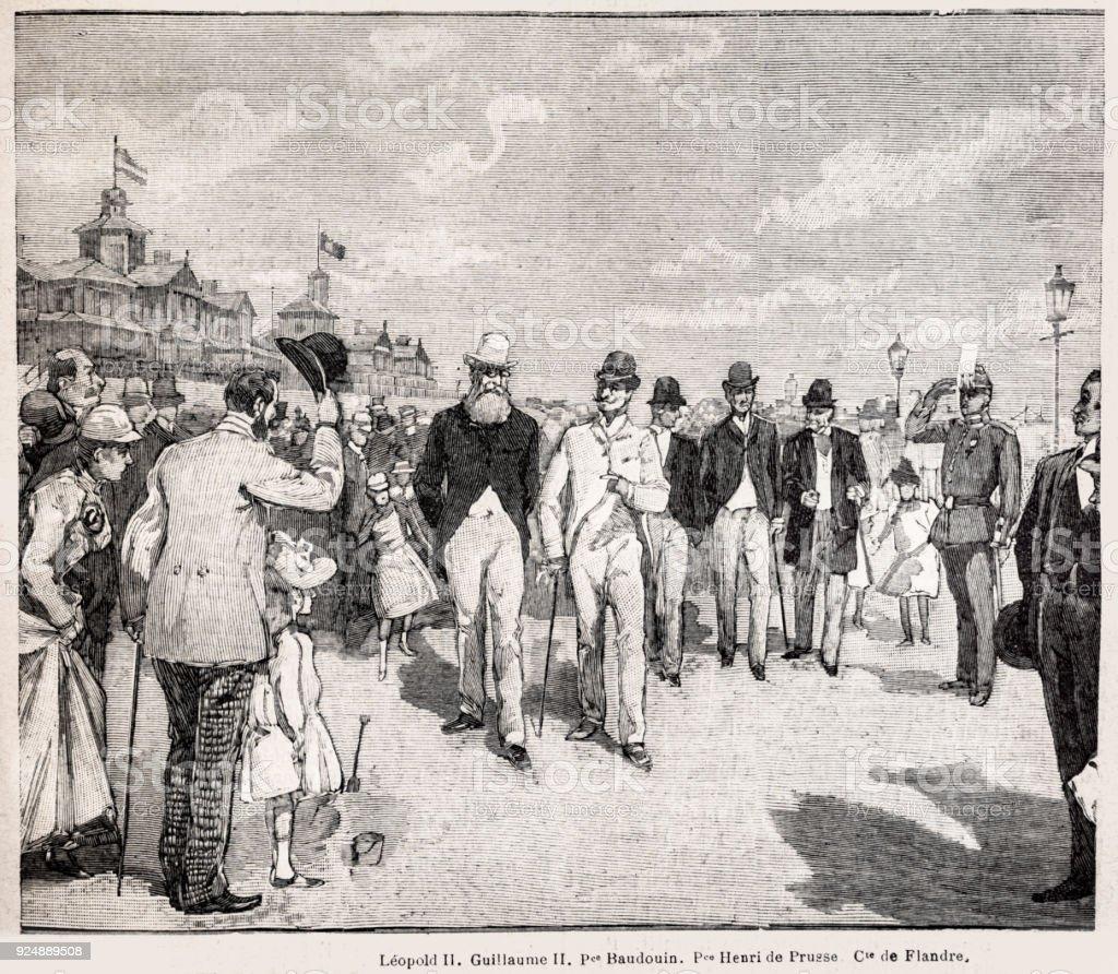 Ilustración de Grabado De Leopoldo Ii De Bélgica Y Emperador ...