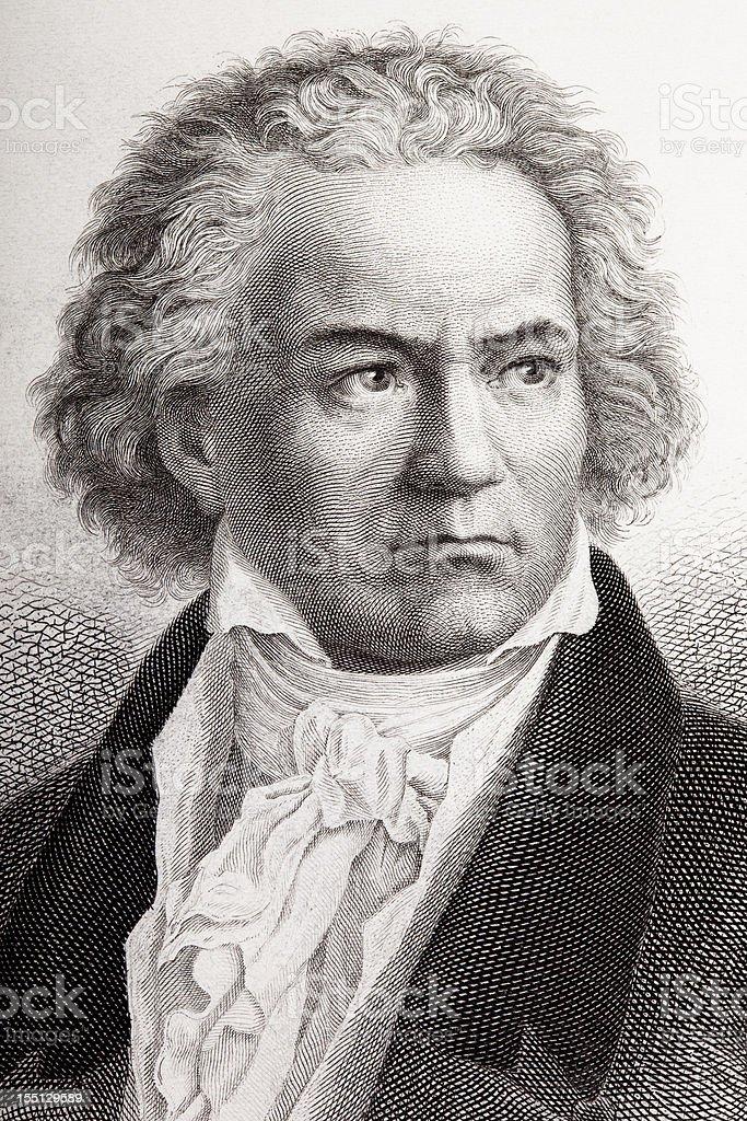 Logoprägung des Komponisten Ludwig van Beethoven aus 1882 – Vektorgrafik