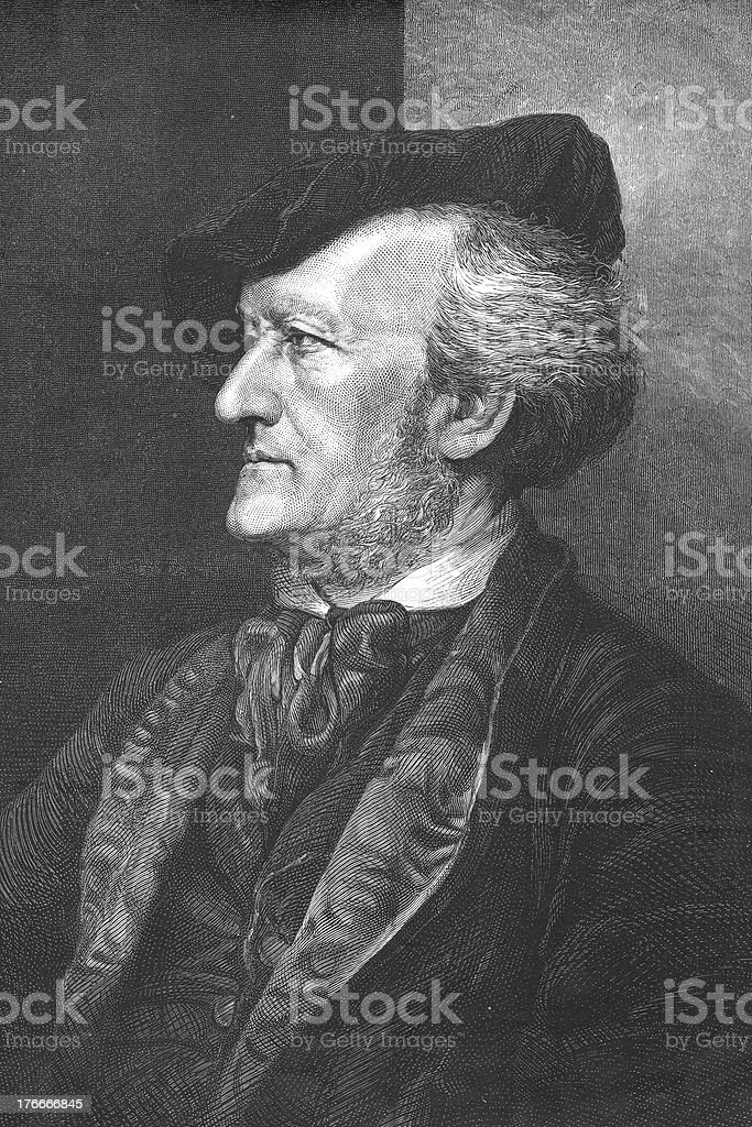Engraving of composer Richard Wagner from 1875 royalty-free engraving of composer richard wagner from 1875 stock vector art & more images of 18th century