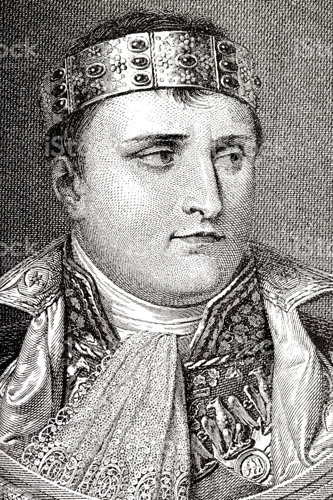 Engraving of emperor Napolean Bonaparte from 1882 royalty-free engraving of emperor napolean bonaparte from 1882 stock vector art & more images of 19th century