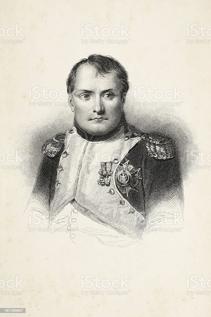 Engraving of emperor Napoleon Bonaparte 1870 royalty-free stock vector art