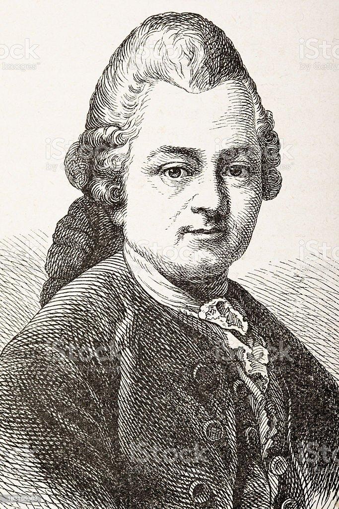 Engraving of german writer philosopher Ephraim Lessing royalty-free engraving of german writer philosopher ephraim lessing stock vector art & more images of 18th century