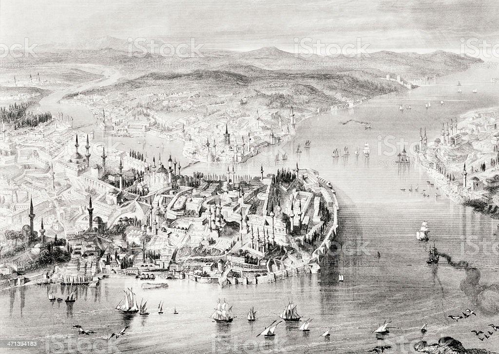 Gravieren von Istanbul – Vektorgrafik