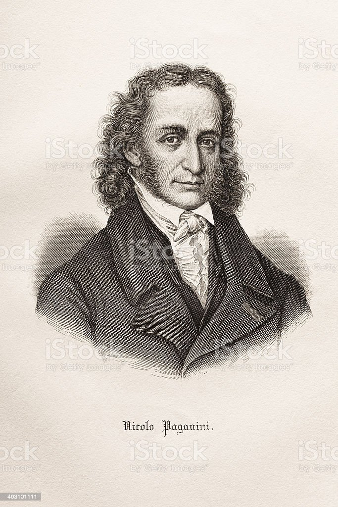 Engraving of italian composer Nicolo Paganini 1874 royalty-free engraving of italian composer nicolo paganini 1874 stock vector art & more images of 18th century