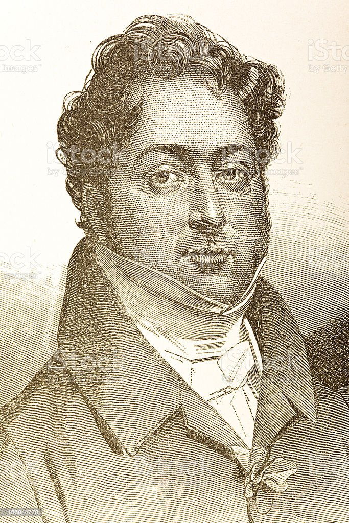 Engraving of italian composer Rossini from 1882 royalty-free engraving of italian composer rossini from 1882 stock vector art & more images of 1880