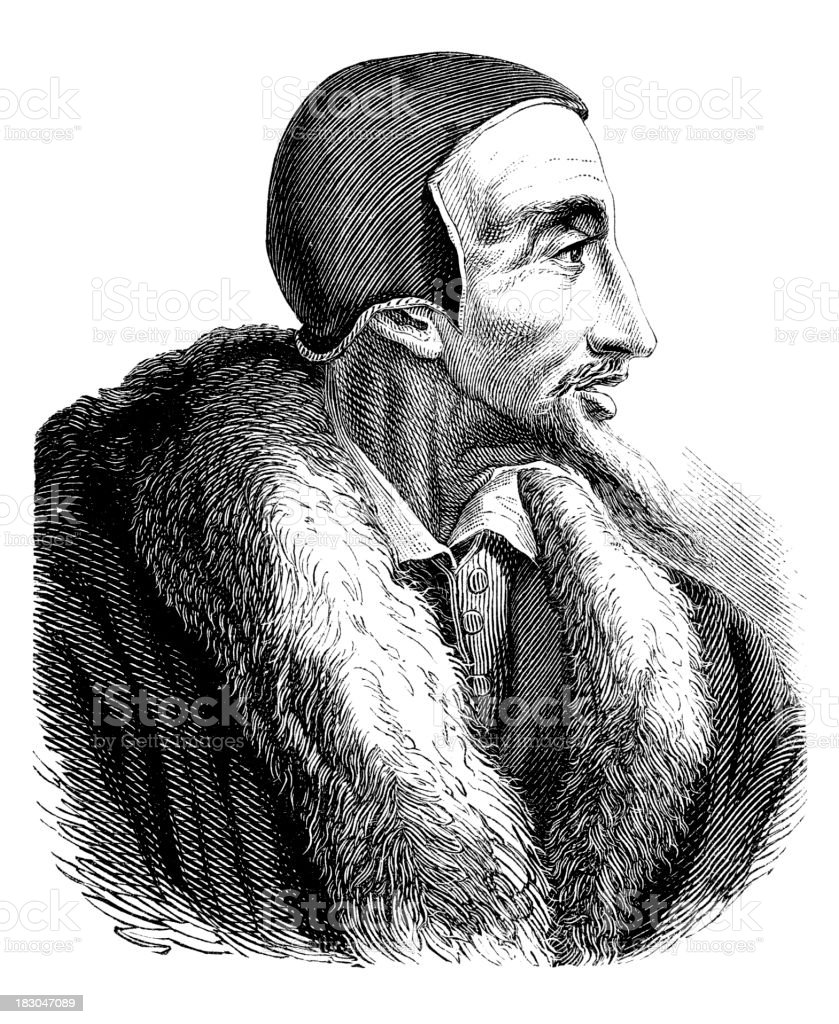 Engraving of John Calvin from 1870 royalty-free engraving of john calvin from 1870 stock vector art & more images of 18th century