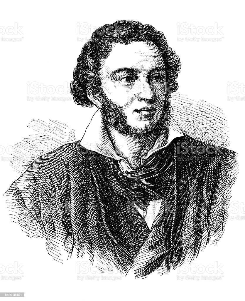 Engraving of poet Alexander Puschkin from 1870 royalty-free engraving of poet alexander puschkin from 1870 stock vector art & more images of 18th century