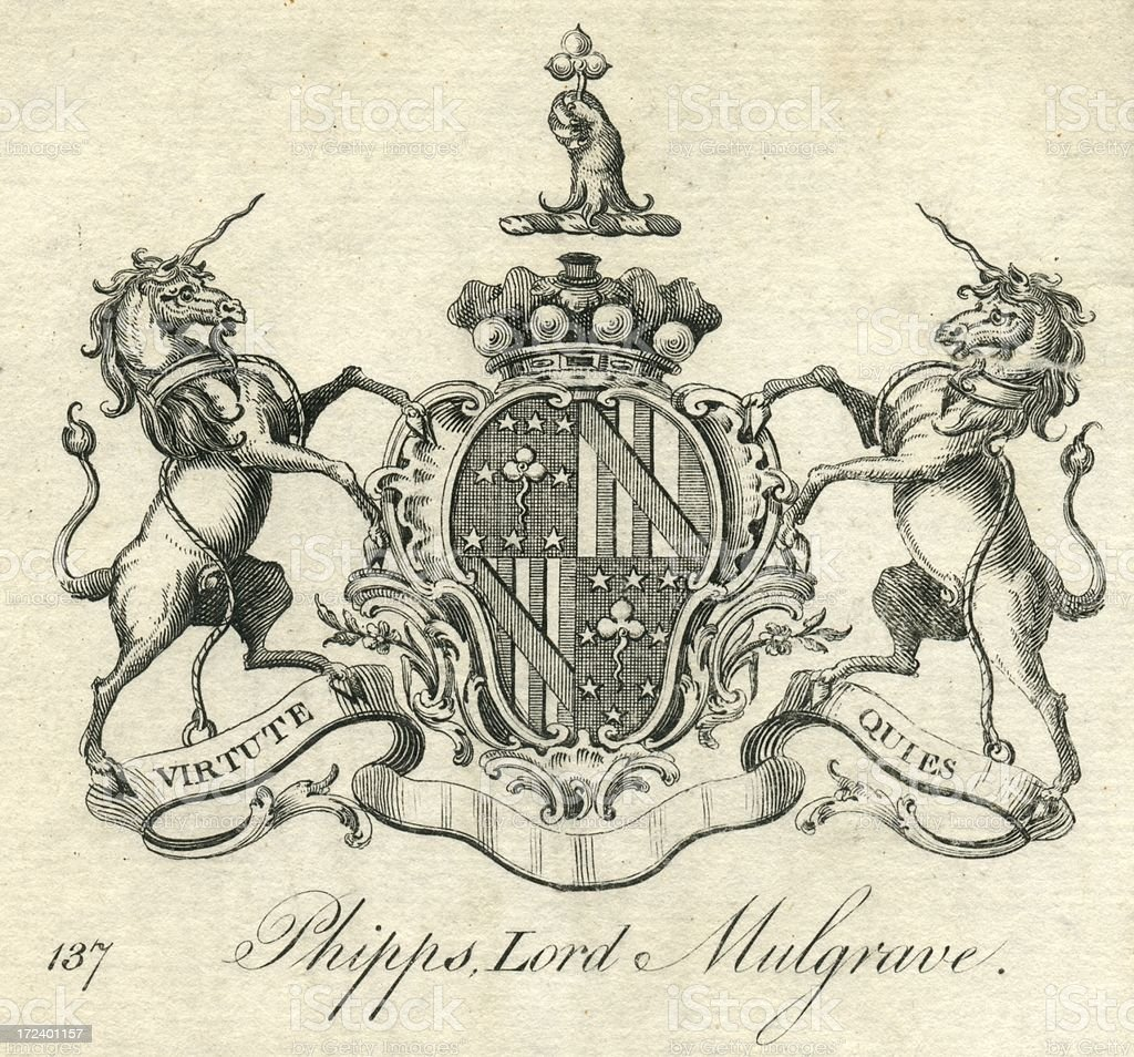 Coat of arms Phipps Lord Mulgrave vector art illustration