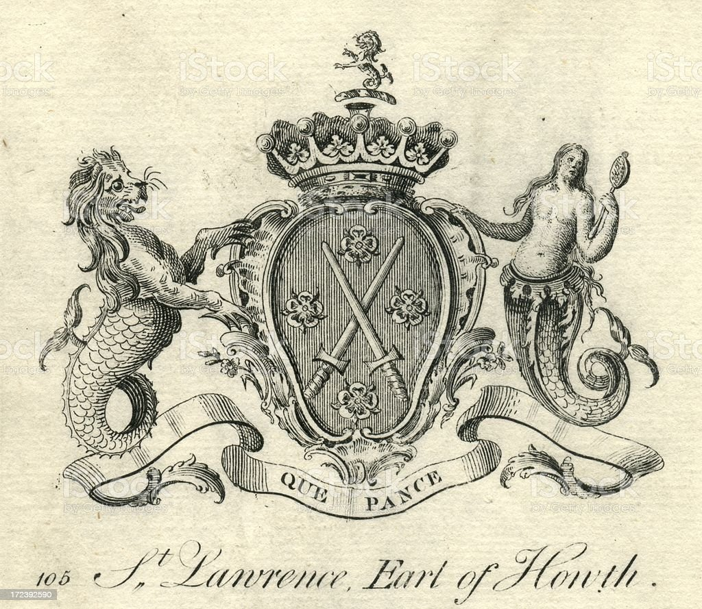 Coat of arms St. Lawrence Earl Howth 18th century royalty-free coat of arms st lawrence earl howth 18th century stock vector art & more images of 18th century style