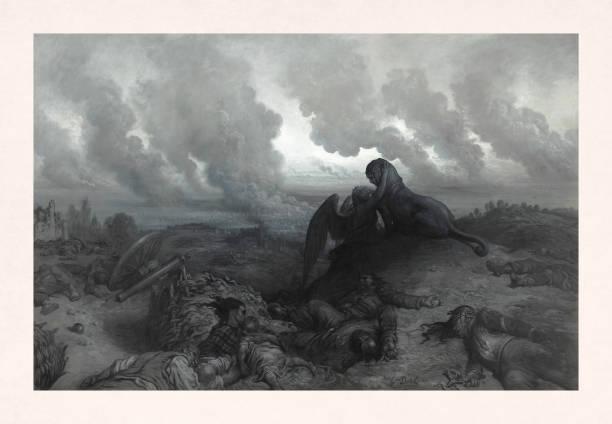 Enigna by Gustave Doré vector art illustration