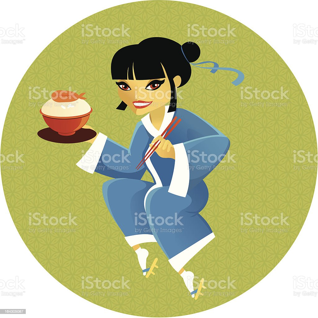 enjoy japanese  cuisine royalty-free stock vector art