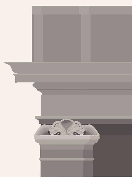 ilustrações, clipart, desenhos animados e ícones de entablamento com colunas, capitais e molduras - molduras decorativas