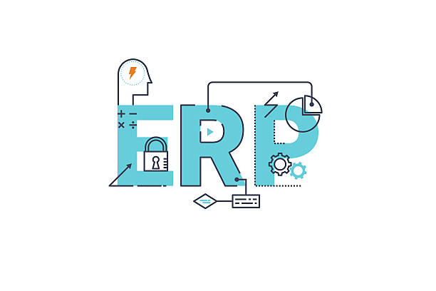 Enterprise resource planning vector art illustration