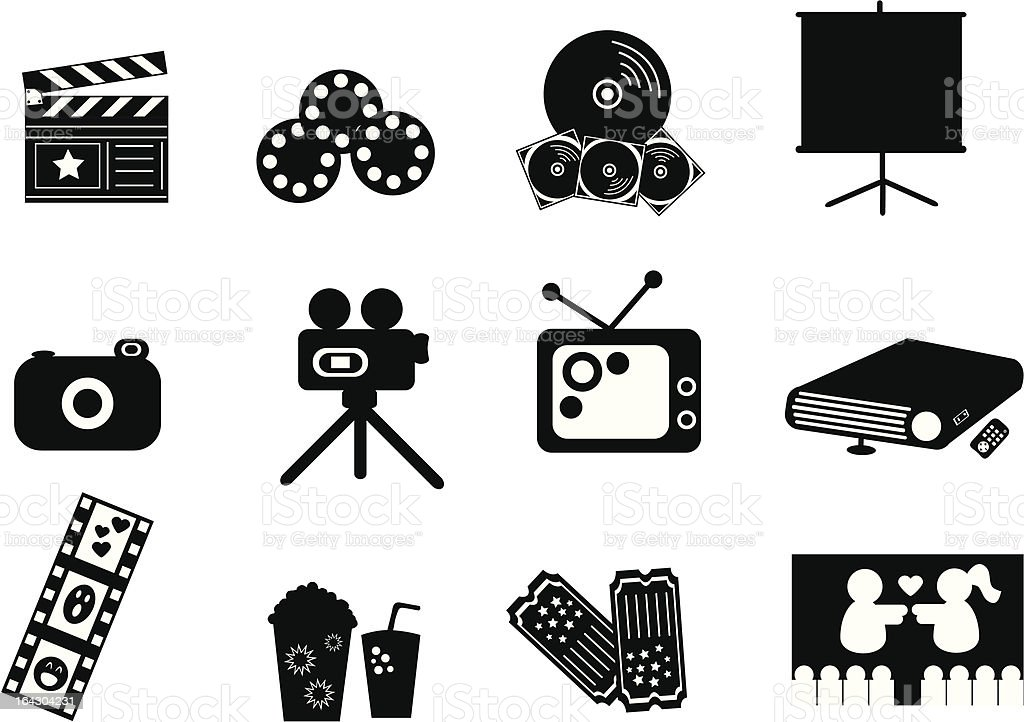 Entertainment Icons royalty-free stock vector art