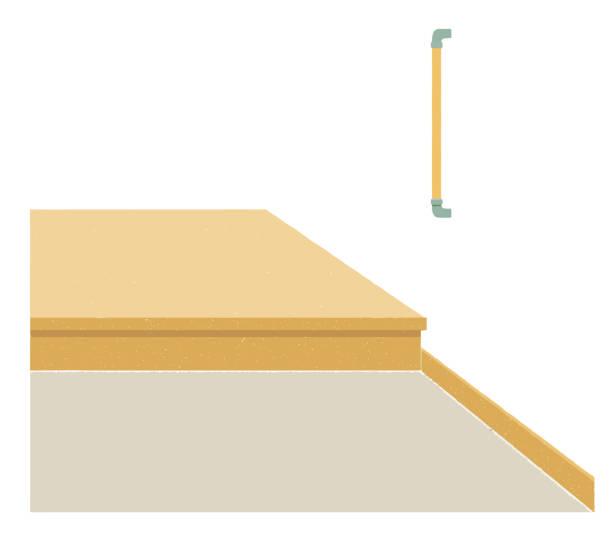 illustrations, cliparts, dessins animés et icônes de plancher et balustrade en béton d'entrée - architecture intérieure beton