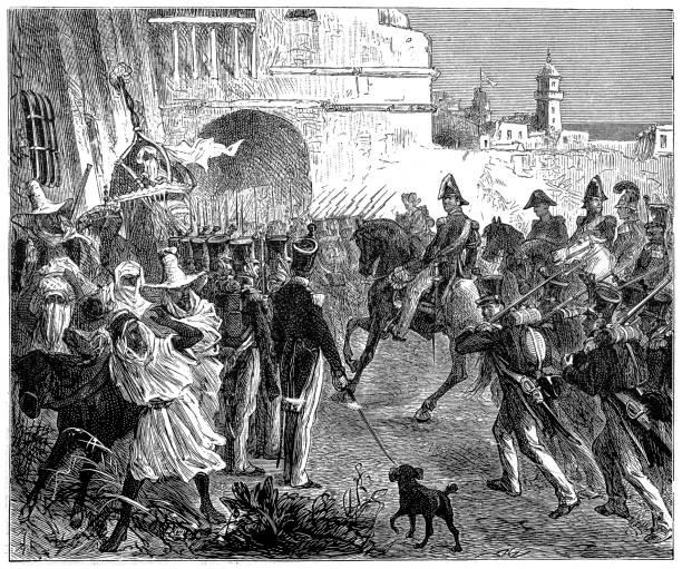 法國的詞條入阿爾及爾 - 阿爾及利亞 幅插畫檔、美工圖案、卡通及圖標