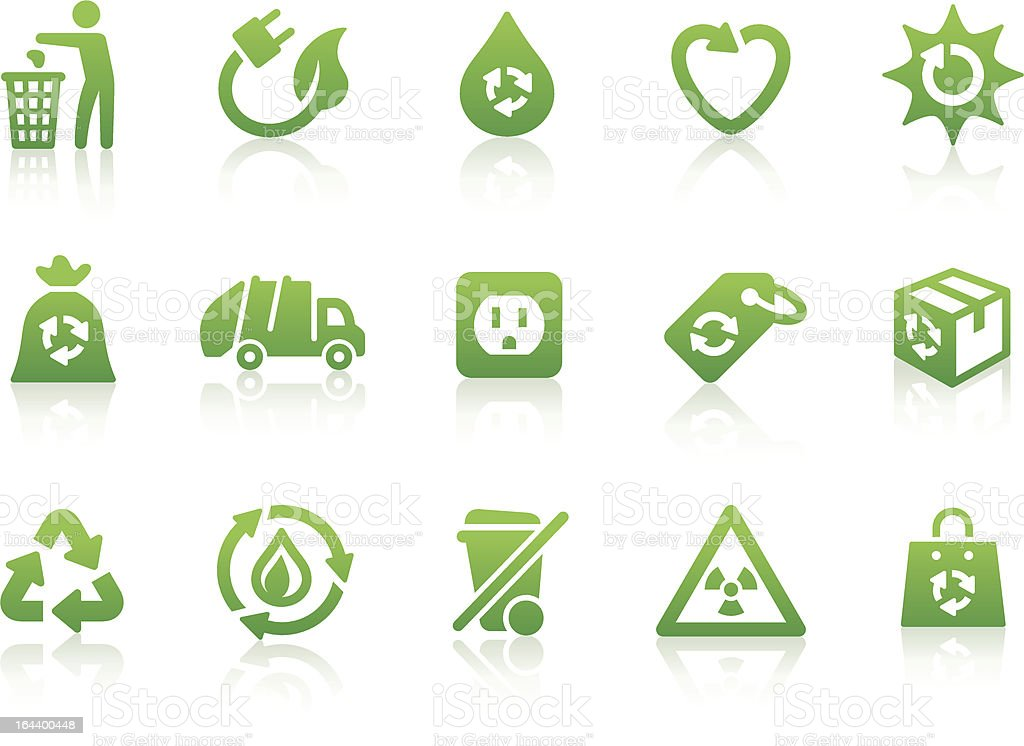 Environmental icons 4 vector art illustration