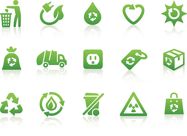 bildbanksillustrationer, clip art samt tecknat material och ikoner med environmental icons 4 - recycling heart