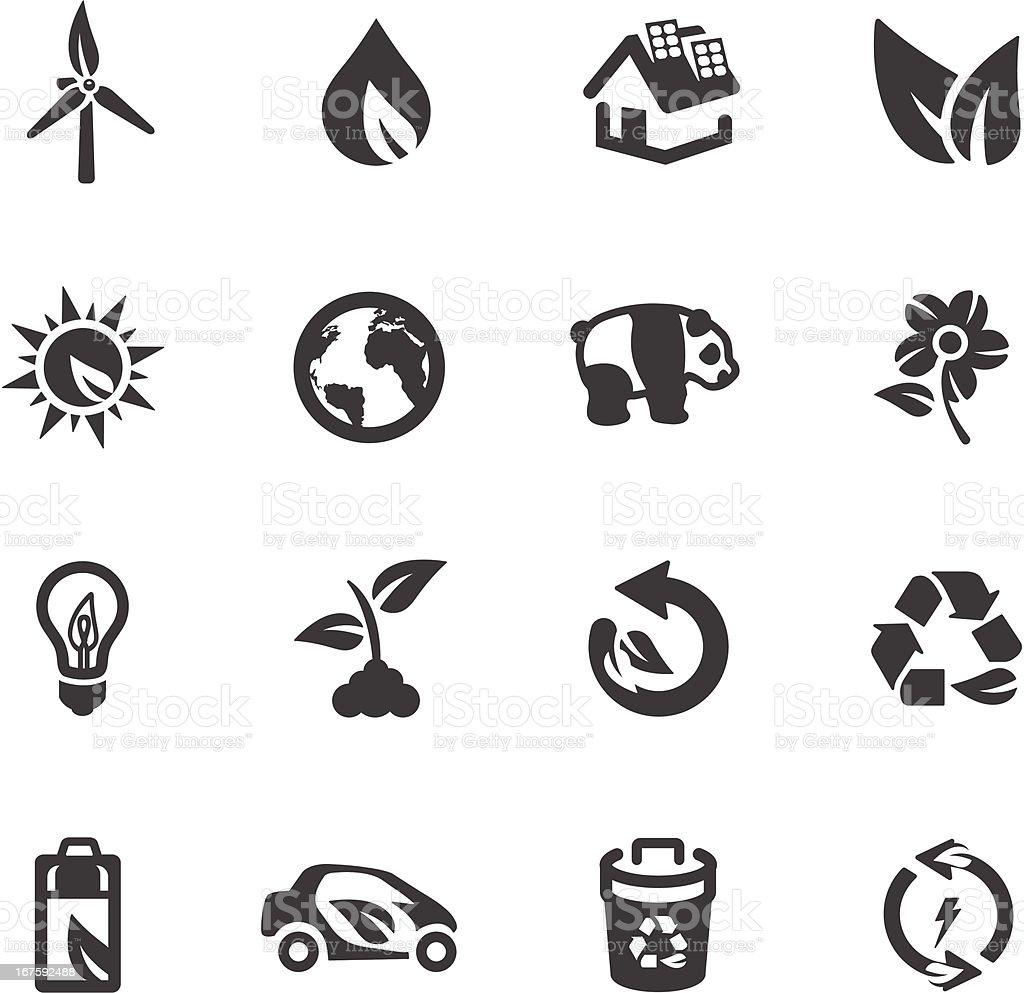 Environmental Symbols vector art illustration