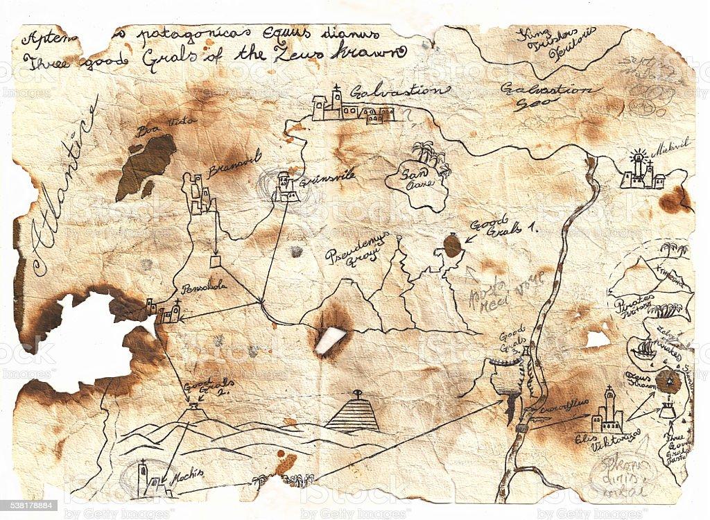 Epic Fantasy World Map Stock Illustration - Download Image Now - iStock