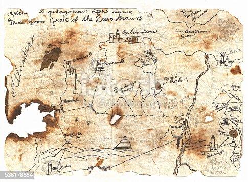 istock Epic fantasy world map 538178884