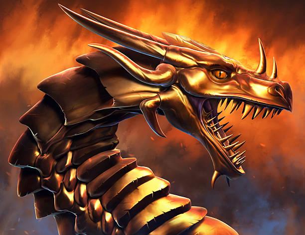 epic golden dragon - dragon eye stock illustrations, clip art, cartoons, & icons