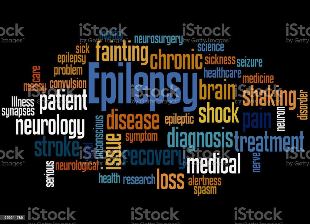 Epilepsy, word cloud concept 2 vector art illustration