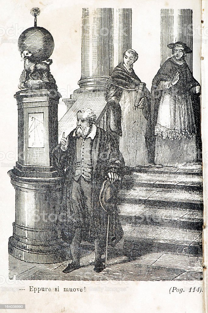 Eppur si muove! Illustration of Galileo Galilei on antique book royalty-free eppur si muove illustration of galileo galilei on antique book stock vector art & more images of 19th century style