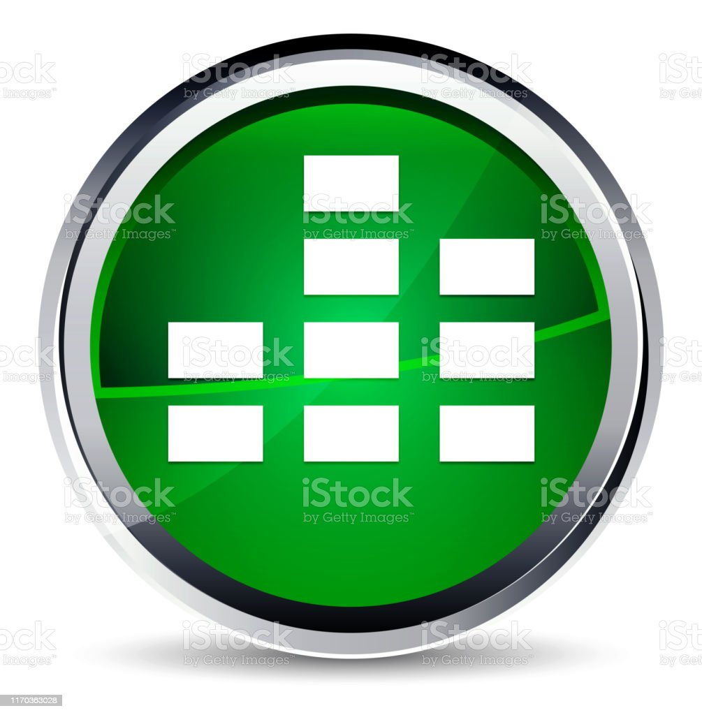 Equalizer icon isolated on Aqua Green Round Button