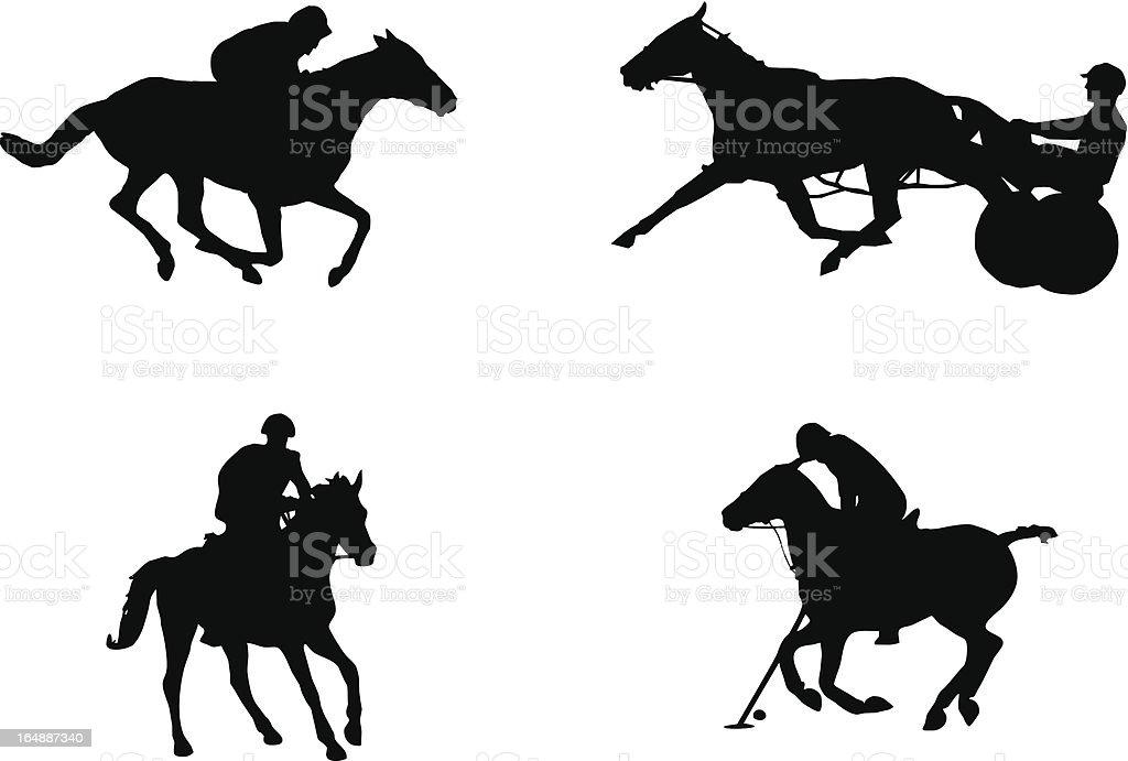 Equitación deportes: Alta velocidad - ilustración de arte vectorial