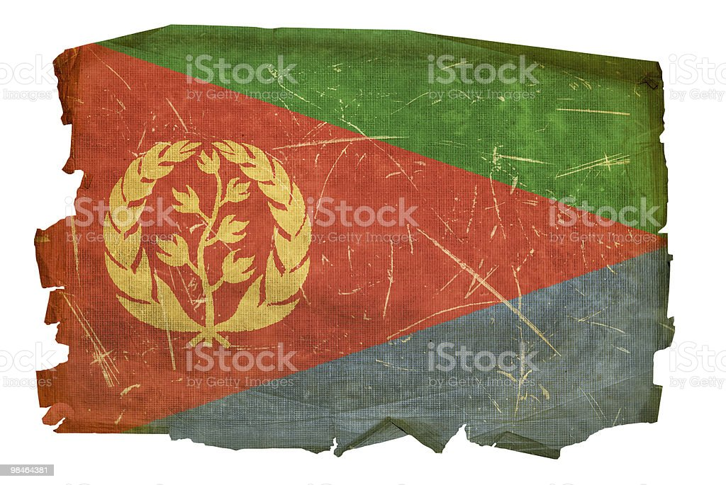 Eritrea Flag old, isolated on white background. royalty-free eritrea flag old isolated on white background stock vector art & more images of aging process