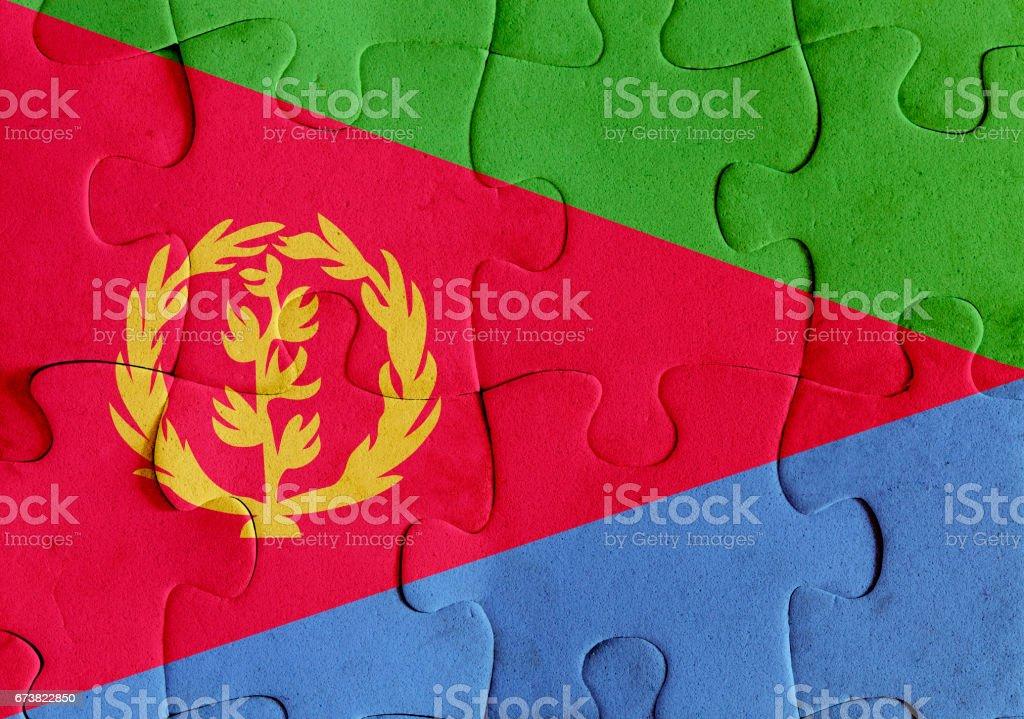 Eritrea flag puzzle eritrea flag puzzle – cliparts vectoriels et plus d'images de afrique libre de droits