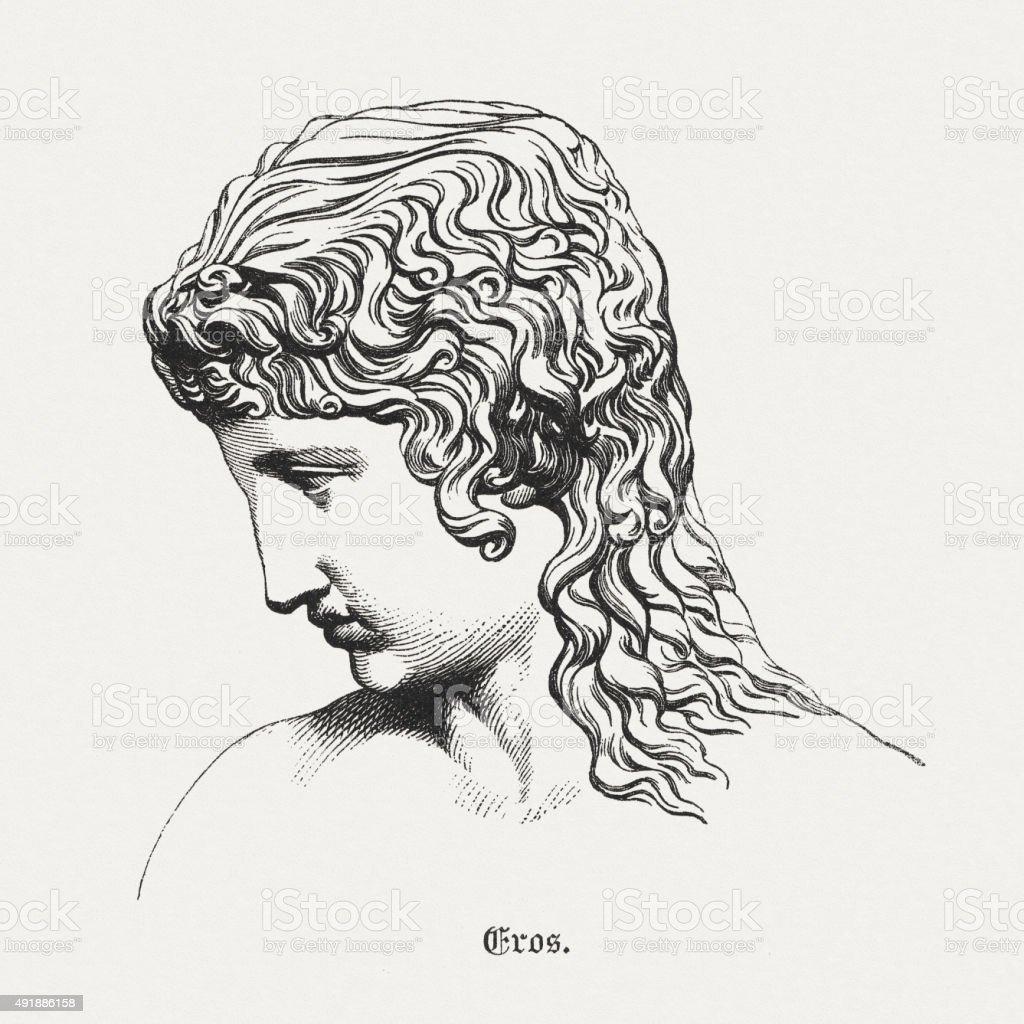 Eros Greek God Of Love Published In 1878 Stock Vector Art & More ...
