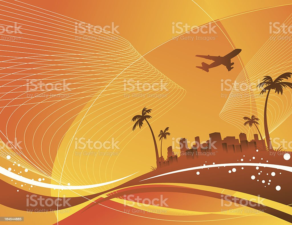 escape from the city royalty-free stock vector art