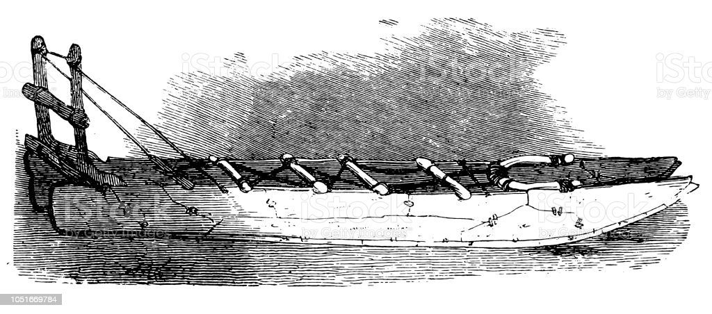 Traîneau Eskimo En Os De Baleine Vecteurs Libres De Droits