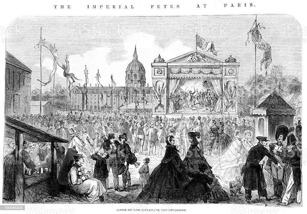 Esplanade Des invalides - Paris royalty-free esplanade des invalides paris stock vector art & more images of 1860-1869