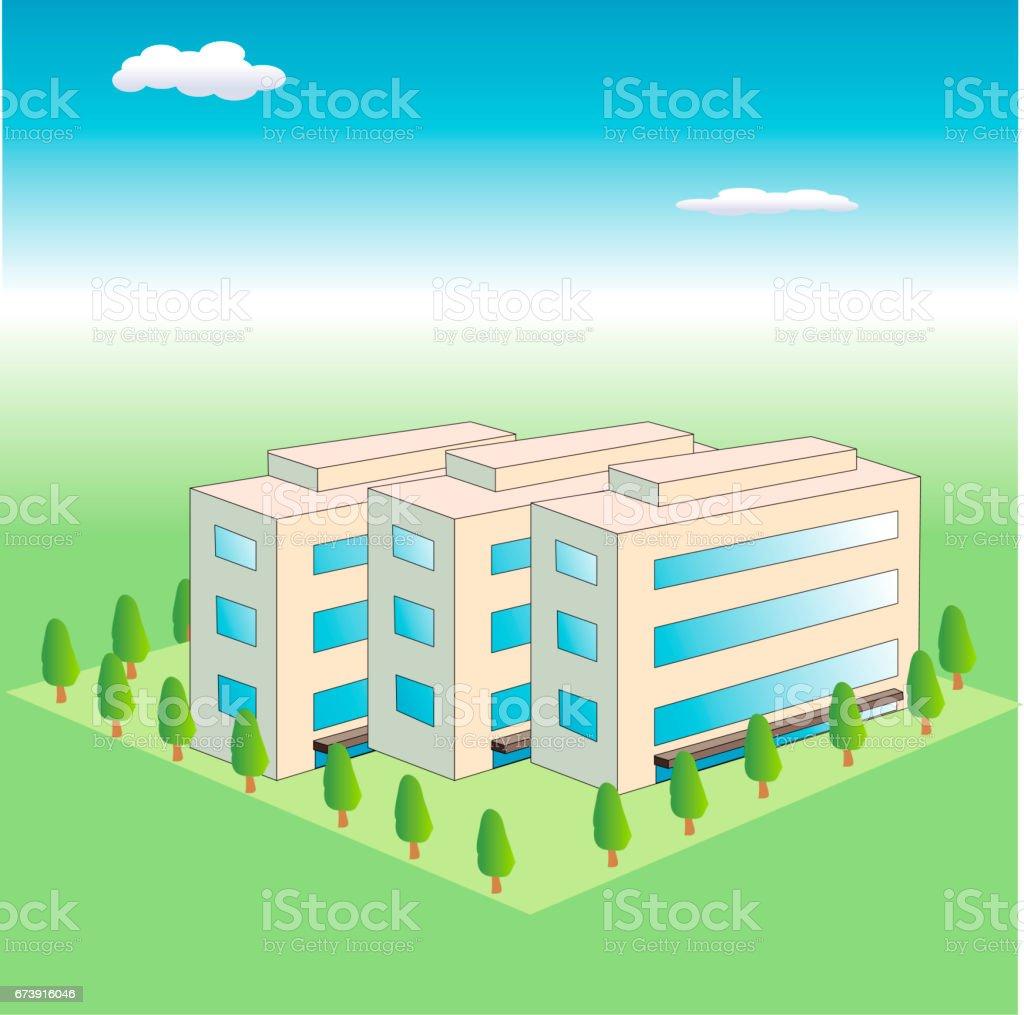 Estates vector art illustration