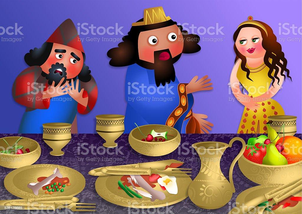 Esthers Banquet-fête de Pourim - Illustration vectorielle