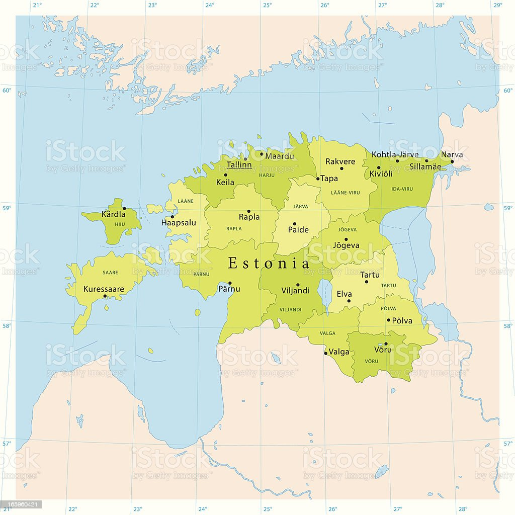 Estonia Vector Map vector art illustration
