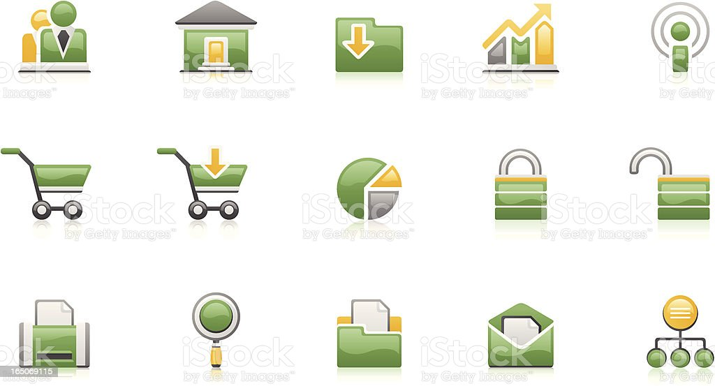 E-store icons - Green-Clean set royalty-free estore icons greenclean set stock vector art & more images of advice