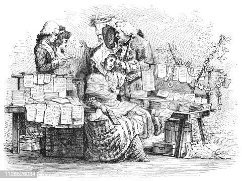 Etching by Marie Firmin Bocourt of Philibert-Louis Debucourt's