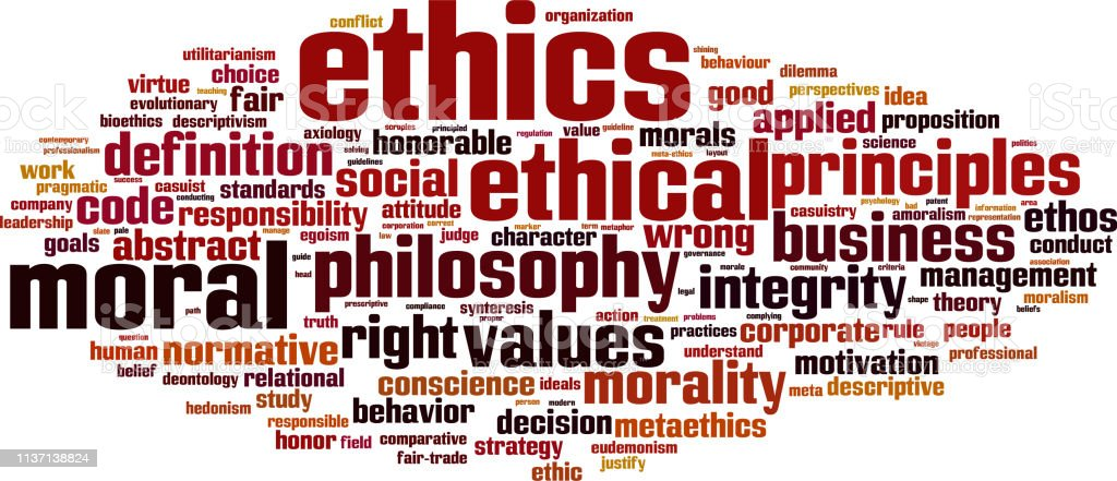 Ethics Word Cloud Stock Illustration - Download Image Now