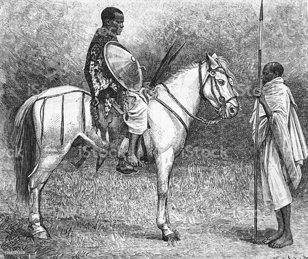 Ethiopian Horseman Sitting On White Horse Stock Illustration Download Image Now Istock