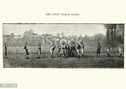 istock Eton field game, Football, 19th Century 920114254