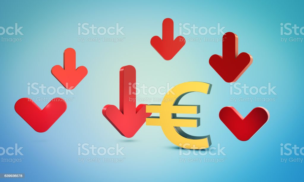 Forex chart with euro symbol and bourse concept