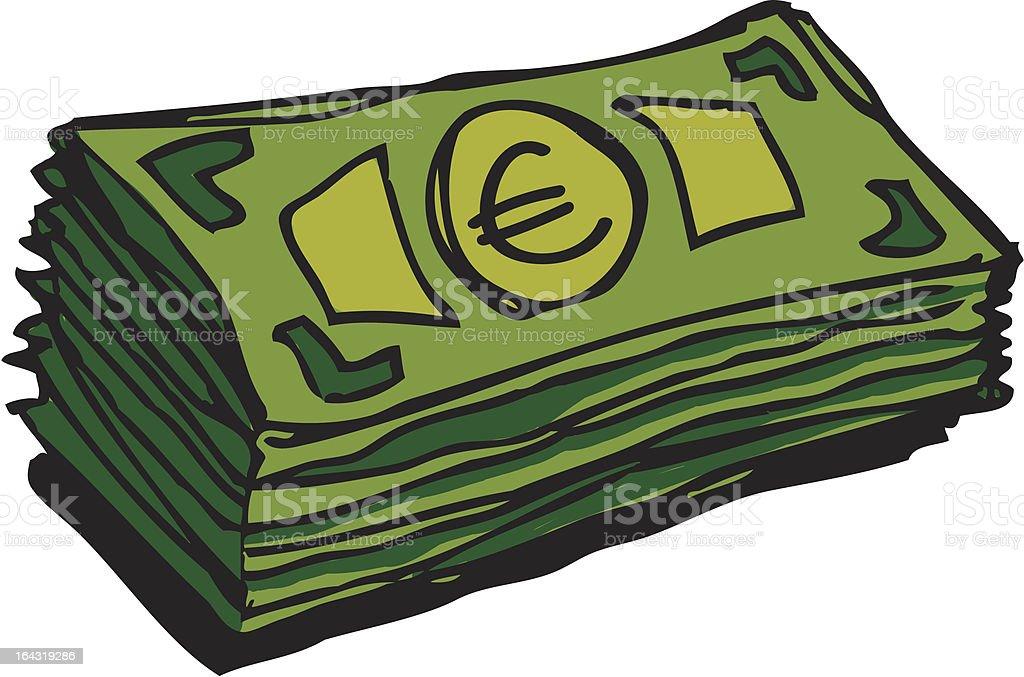 Billet en euros - Illustration vectorielle
