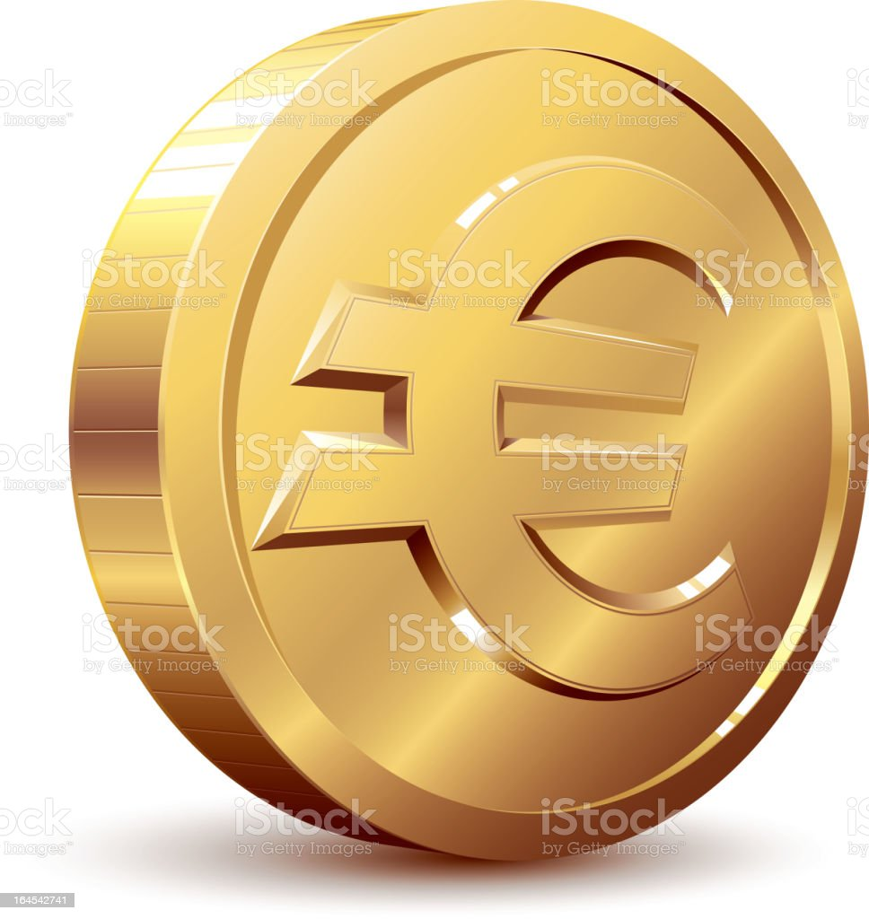 Euro sign vector art illustration